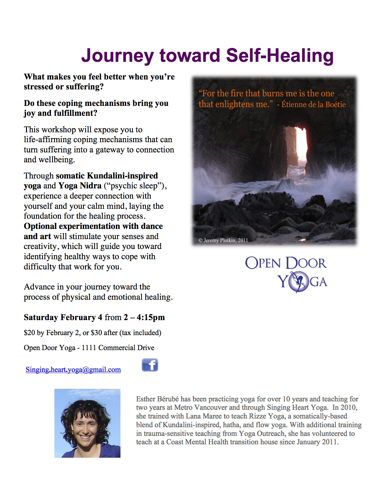 Journey toward Self Healing - Feb 4 poster